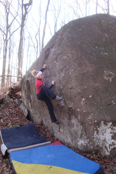 Rock Climbing Photo: Kelly working Year of the Dragon