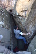Rock Climbing Photo: The deceptively hard beginning to Crazy Game of Po...