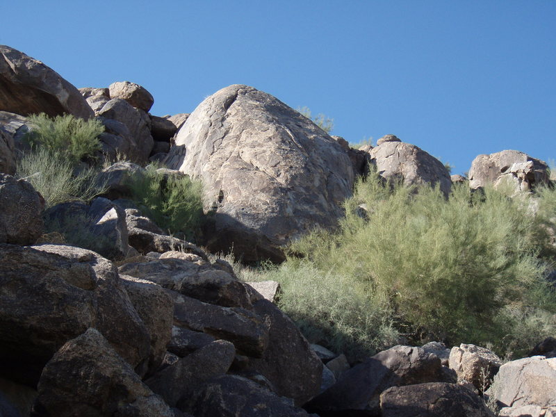 Fear Rock. 'Brown Sugar' is the bolted route on the left of this formation