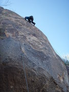 Rock Climbing Photo: Suzanne finishing up on 'Grandma got run over by a...