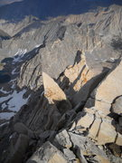 Rock Climbing Photo: east arete of bear creek spire...first real introd...