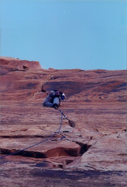 Rock Climbing Photo: Past the hollow/brittle section and it gets real g...