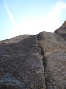 Rock Climbing Photo: One of many splitter crux pitches.
