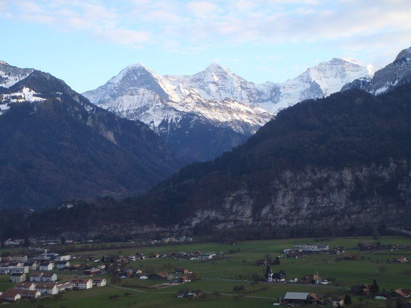 Rock Climbing Photo: Eiger, Monsch, Jungfrau from top of Lehn