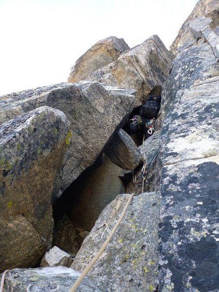 Rock Climbing Photo: P 4 groveling