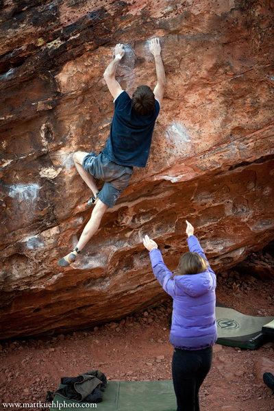 Rock Climbing Photo: John Starr on Hyperglide V4/V5. Dec 2011  mattkueh...