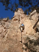 Rock Climbing Photo: John, always in good style, leading PBF.