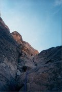 Rock Climbing Photo: Here is pitch 1 of Otto's route. My first gear lea...