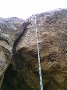 Rock Climbing Photo: The route is just left of the drop