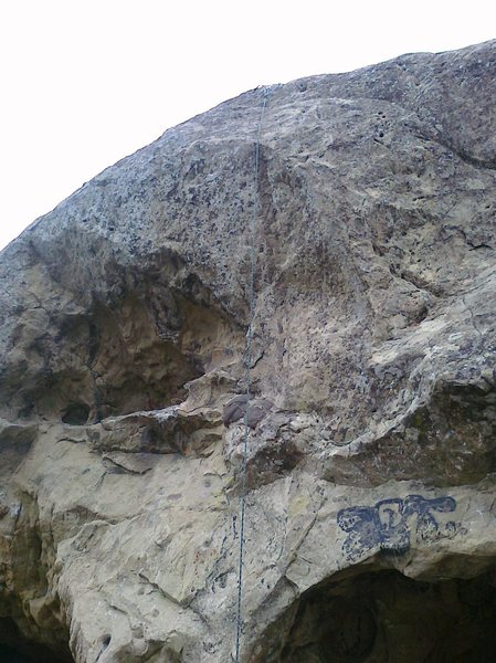 The tough-as-balls face climb.