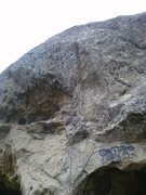 Rock Climbing Photo: The tough-as-balls face climb.