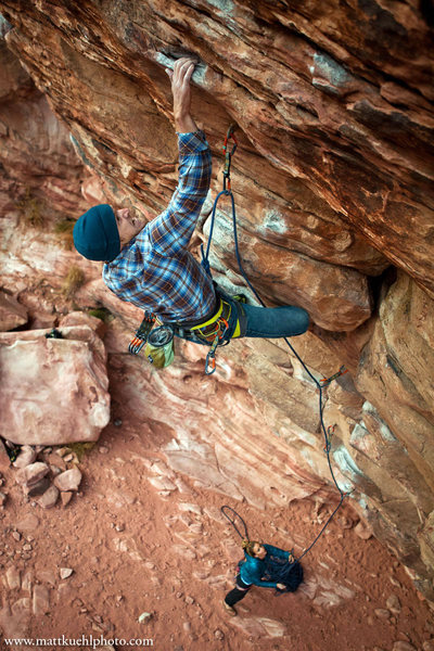 Rock Climbing Photo: Andy Hansen sending Steep Thrills. Dec 2011  mattk...