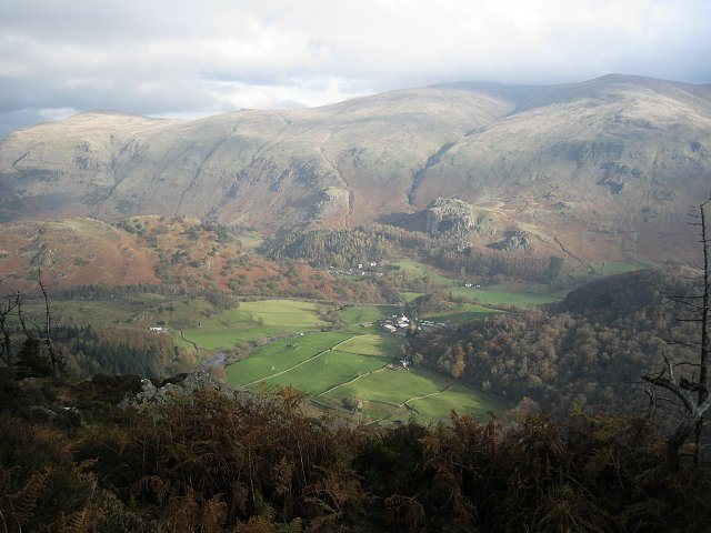 View of Castle Rock across the Thirlmere Valley.photo Bowker