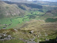 Rock Climbing Photo: Looking down into the Langdale Valley.photo Bowker