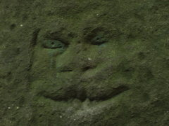 Rock Climbing Photo: carved face...