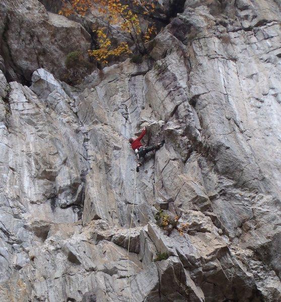 Brit Dan working the stem at the top