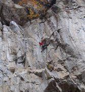 Rock Climbing Photo: Brit Dan working the stem at the top