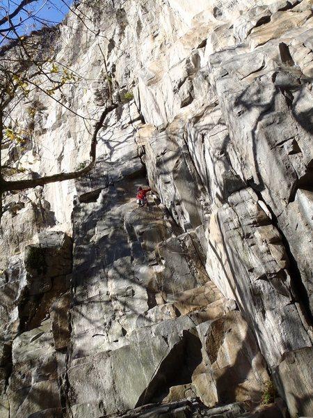 Rock Climbing Photo: Morning light on la fessura