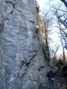 Rock Climbing Photo: Up on the flake