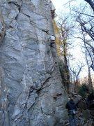 Rock Climbing Photo: Up on the flake