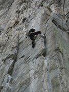 Rock Climbing Photo: Thigh hook!