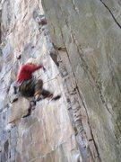 Rock Climbing Photo: Wooo hoo! Airtime on Vergessene Welten 6c