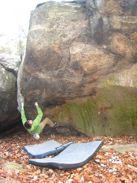 Rock Climbing Photo: Ga-Nus Quah Rocks - Ben Normann starting up the ar...