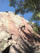 Rock Climbing Photo: Fuzzy firing the thin section.  TRing on a cold De...