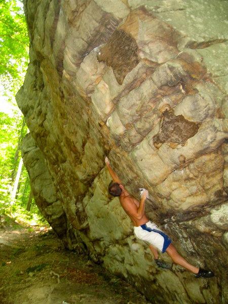 Rock Climbing Photo: FA of Built by Quick Machines V7 NRG