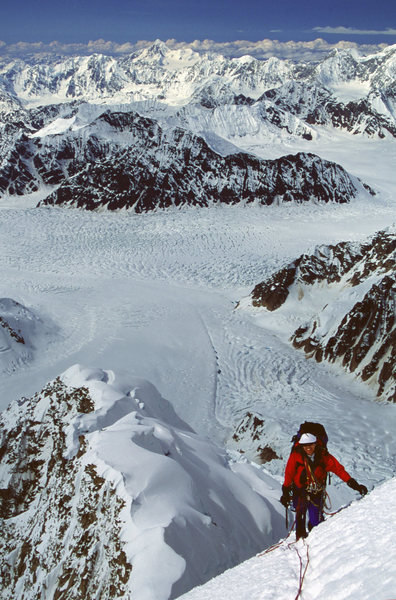 Rock Climbing Photo: Top of the steep stuff Lynn Clark on day 3 -  SW R...