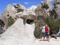 Rock Climbing Photo: Claire and I at Flaming Rock city of rocks