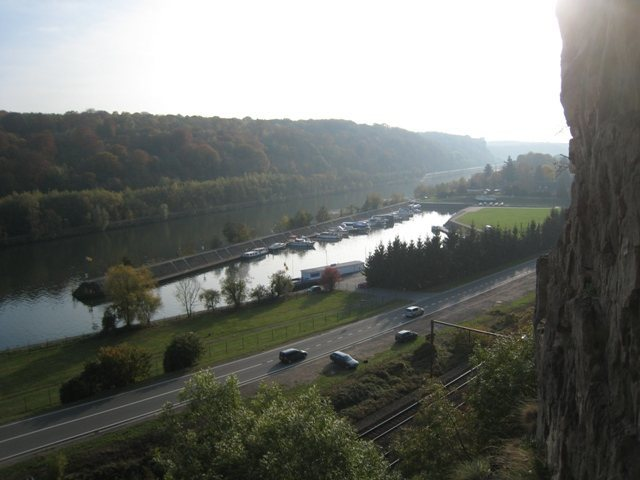 Overlooking the River Meuse from Marche-les-Dames