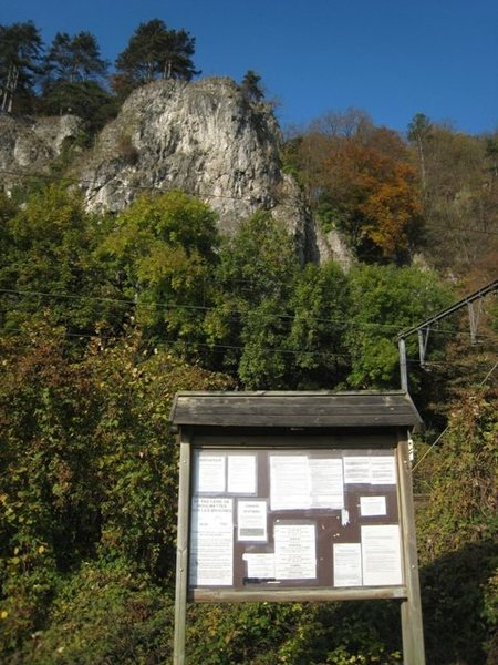 Rock Climbing Photo: Information kiosk at Marche-les-Dames