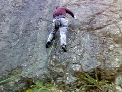 Rock Climbing Photo: lead on the left