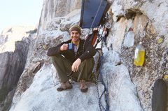 Rock Climbing Photo: Morning coffee on The Captain never tasted so good...