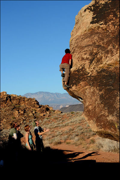 Rock Climbing Photo: Mantel Man