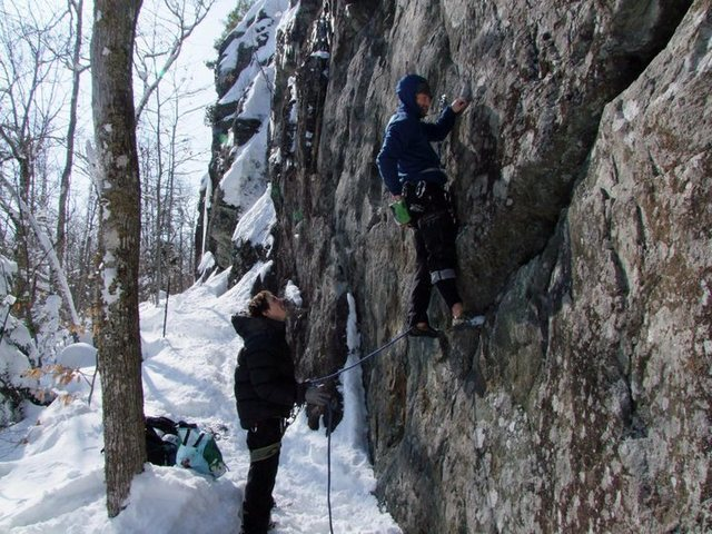 Rock Climbing Photo: Having a go at Ra in February