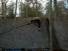 Rock Climbing Photo: Premature Escalation (crux).