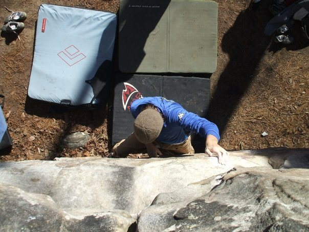 Rock Climbing Photo: Working the middle.