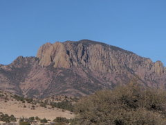 Rock Climbing Photo: Vick's peak.  Probably a 1200 ft or better wall.  ...