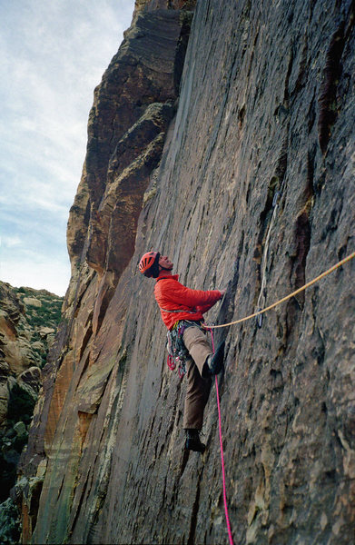 Rock Climbing Photo: Starting 2nd pitch. 11 Dec '11. Photo: Adam Therne...
