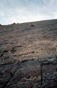 Rock Climbing Photo: Navigating flakes and cracks of the 2nd pitch. Pho...
