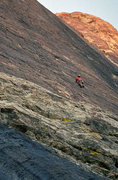 Rock Climbing Photo: Going for the 2nd bolt on the first pitch. The bol...