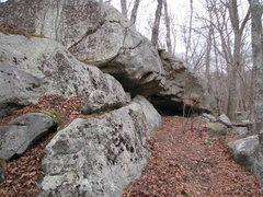 Rock Climbing Photo: The Butt Cave aka Buckeye Roof area. This area is ...