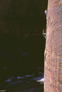 Rock Climbing Photo: Near the top of pitch 2 - Touchstone Wall - Zion