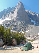 Rock Climbing Photo: A nice campsite near the base of Darkstar Buttress...
