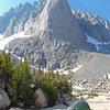 A nice campsite near the base of Darkstar Buttress.