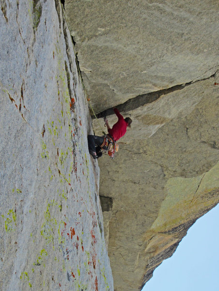 Rock Climbing Photo: Mayan on the Gram traverse.