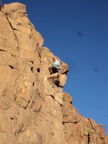 Rock Climbing Photo: Matt Lloyd works this terrific new line.