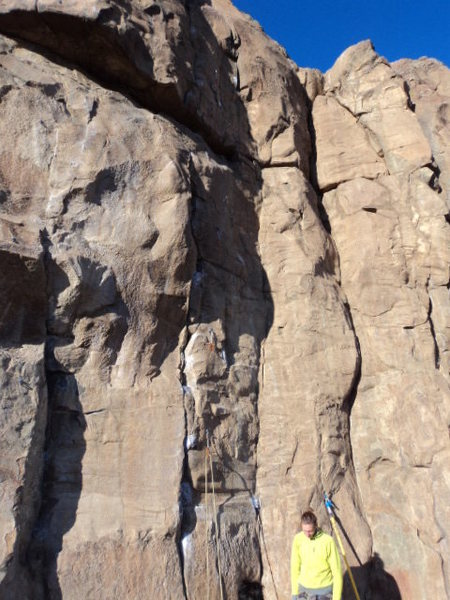 Rock Climbing Photo: The line.  Don't mistake this for the 11 to the ri...